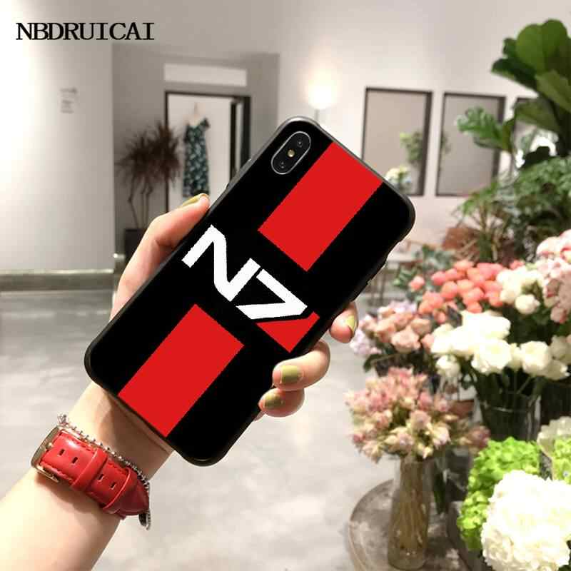 NBDRUICAI N7 Mass Effect Coque Shell Phone Case for iPhone 11 pro XS MAX 8 7 q50