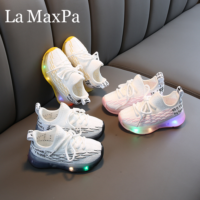 2020 Summer Kids Led Shoes Breathable Sneakers For Children Sneakers With Backlight Led Shoes Glowing Sneakers Sapato Infantil