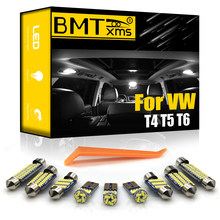 BMTxms – Kit d'éclairage intérieur Canbus pour voiture, accessoire pour véhicule VW Volkswagen T4 T5 T6 Multivan Caravelle Transporter, LED