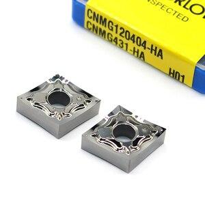 Image 2 - CNMG120402 ヘクタール H01 CNMG120404 cnmg 120408 100% オリジナルインサートアルミ合金インサート cnc 超硬インサート旋盤加工ツール