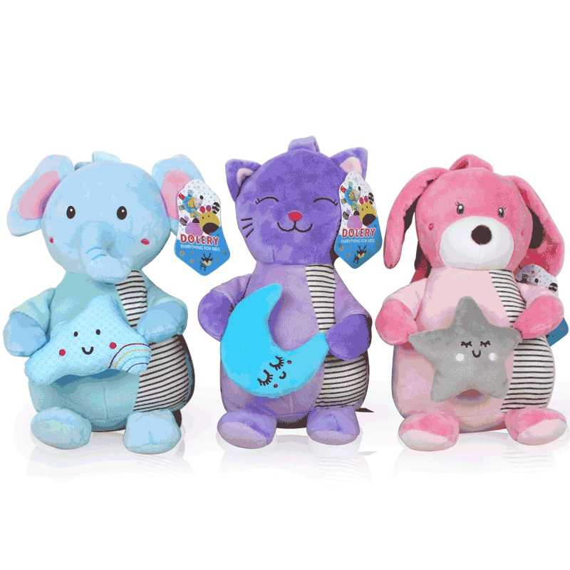 Plush Hanging Bed Cart Rattles Cute Plush Music Baby Toys 0-12 Months Newborn Education Toys Children Rattles Animals Crib Gifts