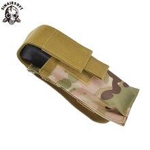 SINAIRSOFR Nylon Molle  Clip Holster Single Magazine Pouch Airsoft Tactical Mag Belt Holder Bag For Hunting Flashlight ultrafire nylon flashlight holster w belt clip black