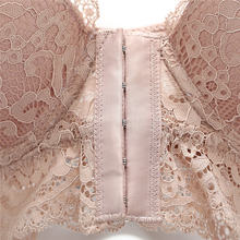Front Closure Lace Bra Beauty Back Push Up Bralette Brassiere Sexy Underwire Bra For Women Underwear Solid Color Female Lingerie