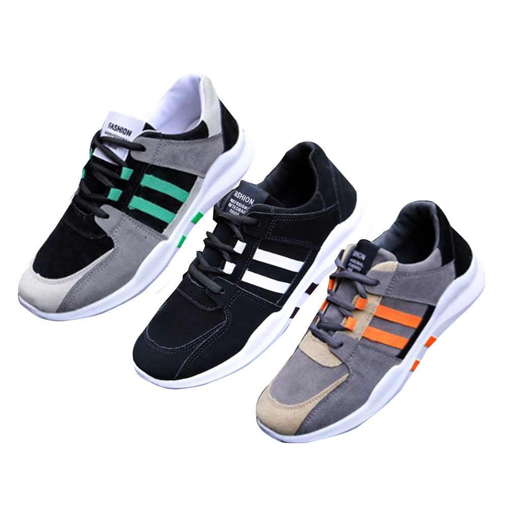 غير جلد حذاء كاجوال مطابقة شريط رجل البرية حذاء قماش حذاء رياضة المشي في الهواء الطلق رجل أحذية رياضية zapatillas هومبر