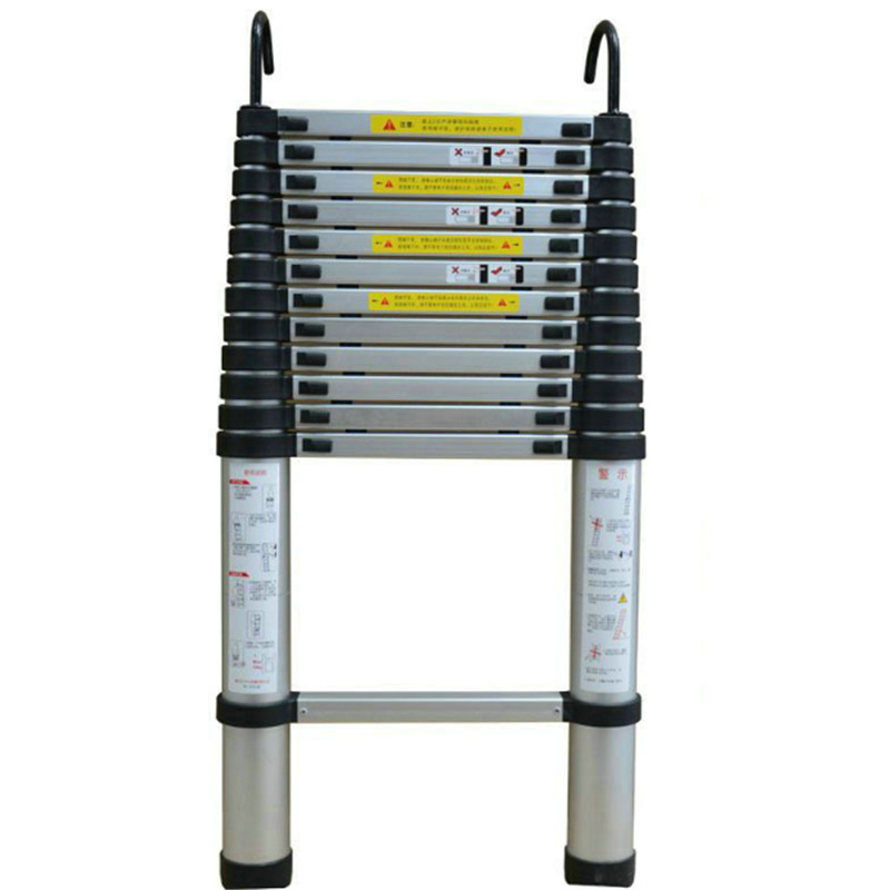 2.6 Meters DLT-A Portable Safety Extension Ladder Thick Aluminum Alloy Single-sided Straight Ladder Household 9 Steps Ladder