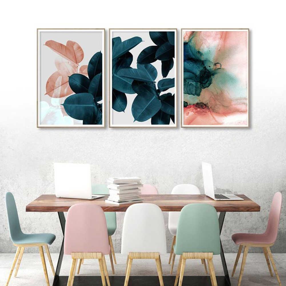 قماش اللوحة أوراق زهرة صورة الفن ملصق جدار مكتب غرفة المعيشة ديكور الساخن