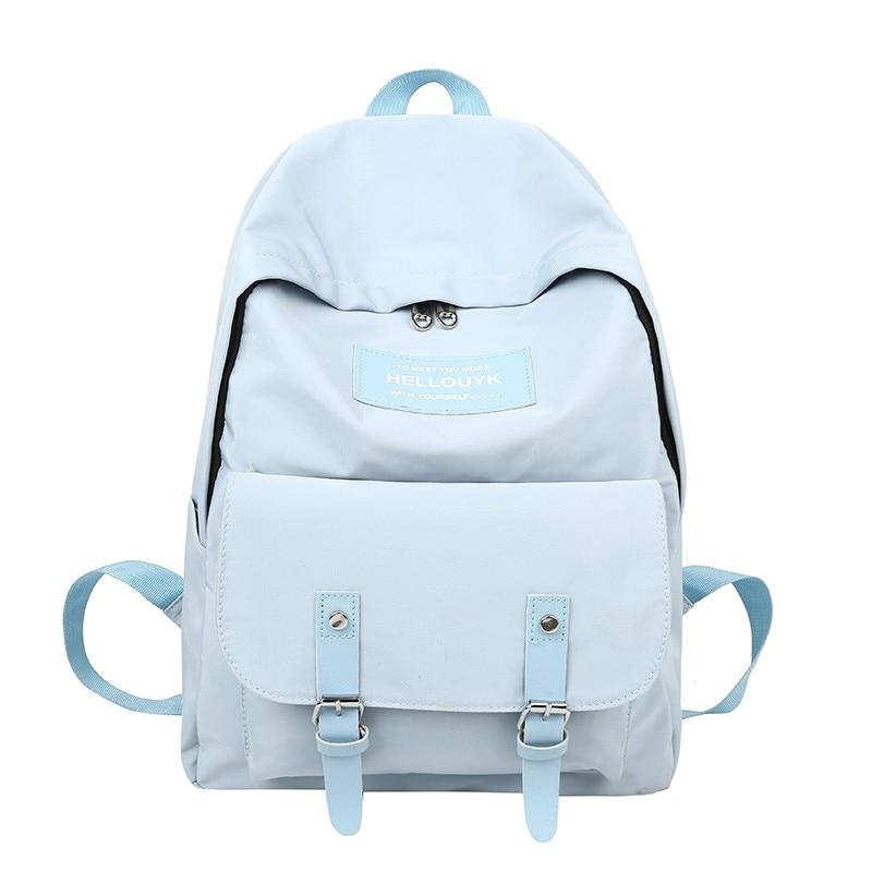 Classic Canvas Women's Street Backpack Large Capacity Zip Pocket Backpack Nylon Multi Pocket Travel School Backpacks Teenage