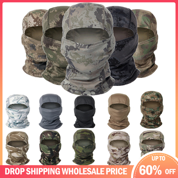 Windproof Camouflage Balaclava Full Face Scarf Wargame Cycling Hunting Army Bike Military Helmet Liner Tactical Airsoft Cap image