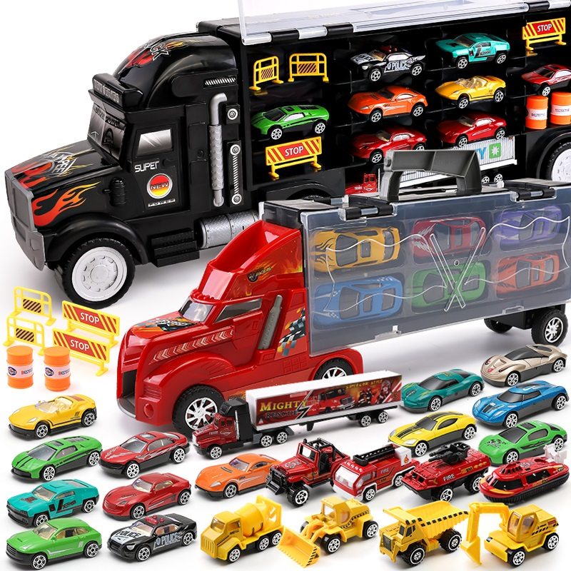 Hot Wheels Mega <font><b>Hauler</b></font> Track Toy Big Size Transporter Can Holds up to 50 Cars Hotwheels Truck Toy Commemorative Edition FTF68 image