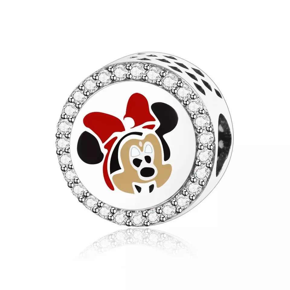 Perle de bricolage européenne mickey Minnie Ft bracelet à breloques Original faisant des bijoux de bibelot pour les femmes