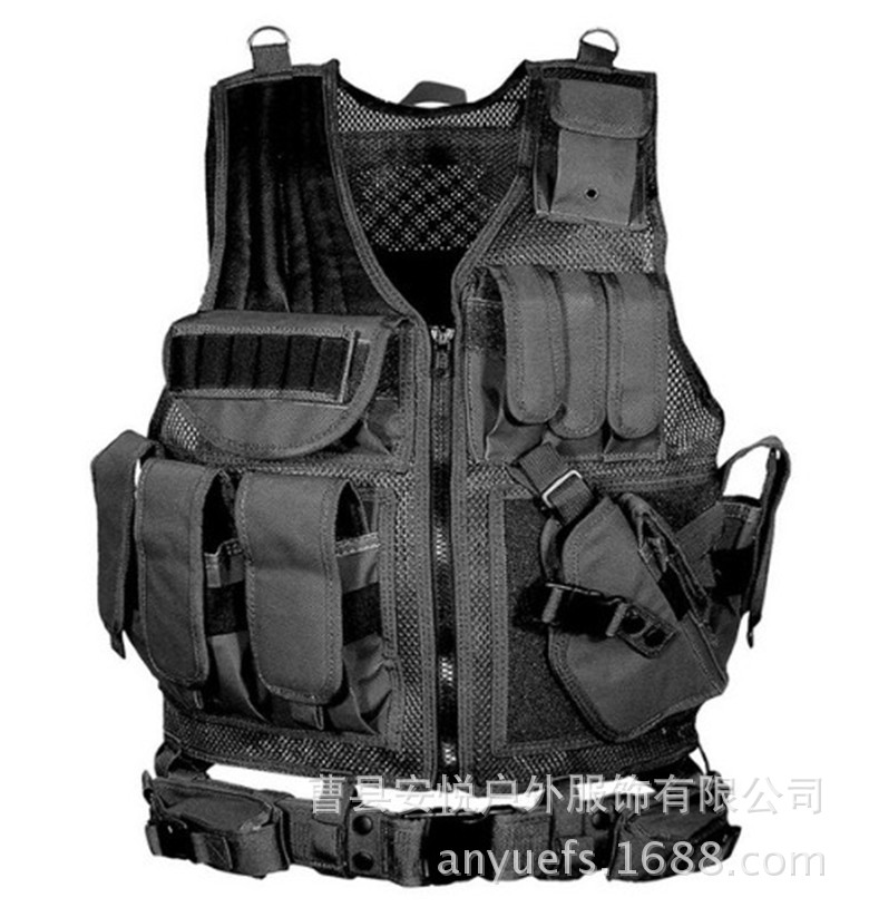 Cross Border Hot Selling Tactical Vest Camouflage Outdoor Equipment Waistcoat Field Survival Game Counter Strike Cosplay Camoufl