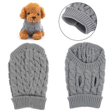 1PC Winter Dog Sweater Kitten Costume Soft Fleece Puppy T-shirt Knitted Vest Puppy Jumpsuit Pet Jumper Clothes Cat Supplies(China)