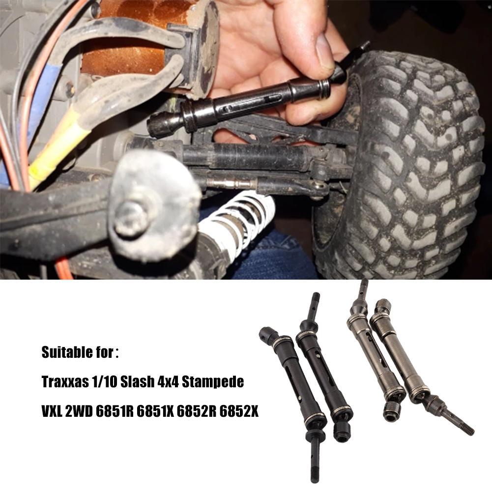 Front /& Rear Drive Shaft CVD For Traxxas Slash 4X4//Rustler VXL//Stampede 4X4 VXL