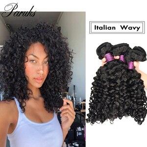 Paruks в итальянском стиле волнистые пряди индийские волосы пряди 100% необработанные человеческие волосы девственные волосы для наращивания В...