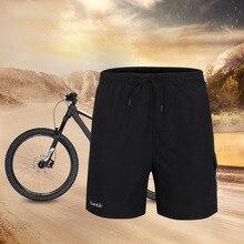 Santic, мужские летние черные велосипедные шорты, свободный крой, Coolmax, 3D, мягкий, с завязками, дизайн, быстросохнущие, дышащие, S-4XL, шорты C05003
