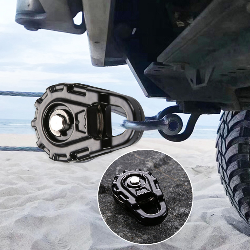 RC Car Winch Pulley Black Metal Tow Rope Winch Snatch Block For Traxxas Hsp Redcat Rc4wd Tamiya Axial  Scx10 D90 Hpi