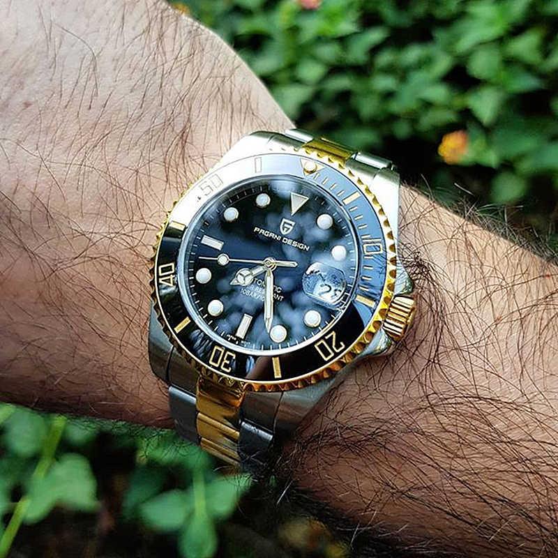 2020 PAGANIออกแบบอัตโนมัติMechanicalนาฬิกาผู้ชายสแตนเลสธุรกิจกันน้ำRelogio Masculino PD-1639