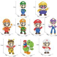 חם Lepining קלאסי בורא יפן סופר marios bros bee דמויות Wario יושי Waluigi Luigi מיני מיקרו יהלומים בלוקים לבני צעצועים