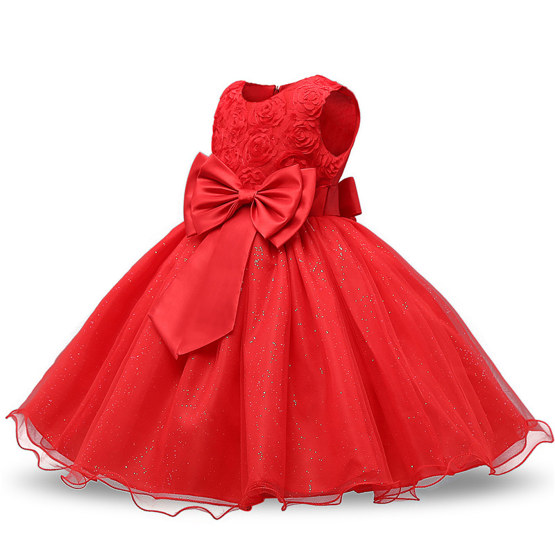 Kids Christmas Dress for Girls Clothes Children Lace Princess Flower Dress Elegant Wedding Birthday Prom Gown New Year Costume 3