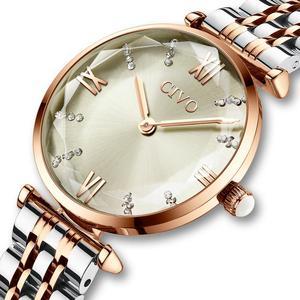 Image 2 - CIVO 2020 moda luksusowe zegarki damskie Top marka stal z różowego złota pasek wodoodporny Zegarek Damski Zegarek Damski