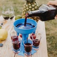 6 выстрел Стекло Диспенсер держатель винный стакан для виски пивной диспенсер для Барные аксессуары Caddy дозатор для ликеров Вечерние игры и...