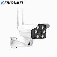 Kebidumei IP Camera 720P Outdoor Wifi CCTV Monitor Camera Waterproof IR Night Vision Security Camera Double Antenna