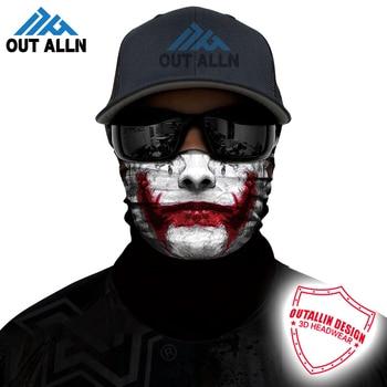 3D Joker Headband Braga Cuello Deadpool Bandana Buffs Clown Anonymous Seamless Balaclava Skull Motorcycle Face Mask Demon Scarfs