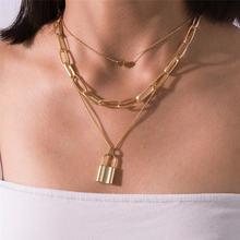 Аксессуары Ювелирные изделия крупное модное многослойное ожерелье