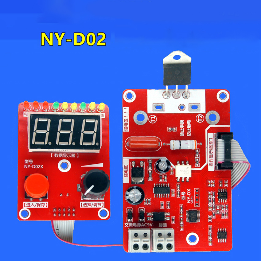 AC9-12v 3w Double Pulse Encoder Spot Welder Time And Current Control Board 41A Transformer Controller 0.56 Digital Tube Display