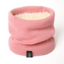 Модный женский вязанный шарф, Одноцветный кашемировый зимний шарф-снуд, женские теплые шерстяные меховые толстые шарфы унисекс для мужчин