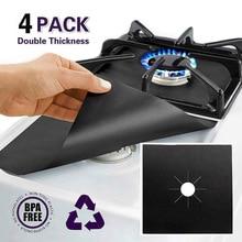 4 шт. защитное покрытие для газовой плиты, газовая плита, крышка для плиты, коврик для чистки кухонной газовой плиты, защитное покрытие для кухонной плиты, аксессуары для кухни