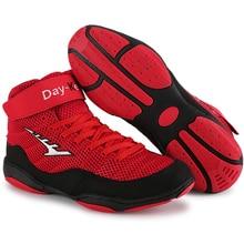 Мужские боксерские Профессиональные боксерские борцовские ботинки для тяжелой атлетики, мужские мягкие дышащие носки для тренировок, боксерские сапоги для боя