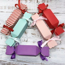 10 sztuk Multicolor Wedding Favor Box i torby słodki upominek pudełka na cukierki na ślub Baby Shower urodziny gości sprzyja Event Party