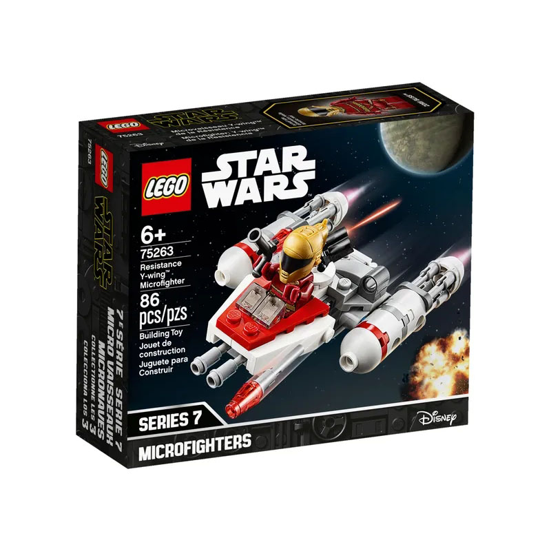 <font><b>LEGO</b></font> 75263 <font><b>Star</b></font> <font><b>Wars</b></font> Series Resistance Y-wing Microfighter Building Block Includes 4 <font><b>Minifigures</b></font> Toy A Great Gift for Kids image