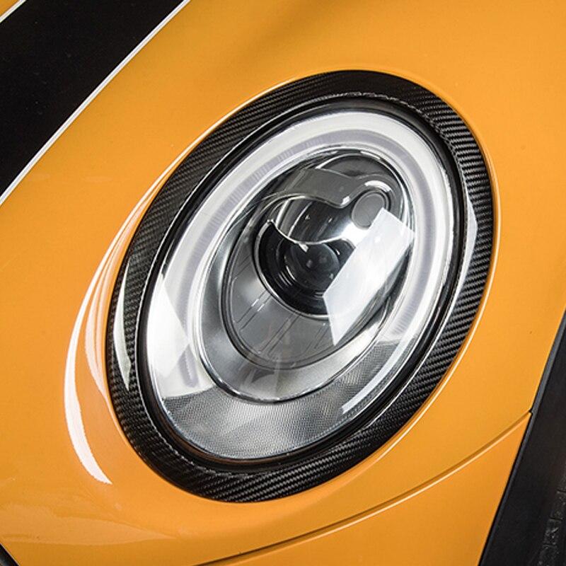 Phare de voiture en Fiber de carbone décoration cadre queue autocollant pour BMW MINI Cooper S F54 F55 F56 F57 F60 accessoires de style de voiture