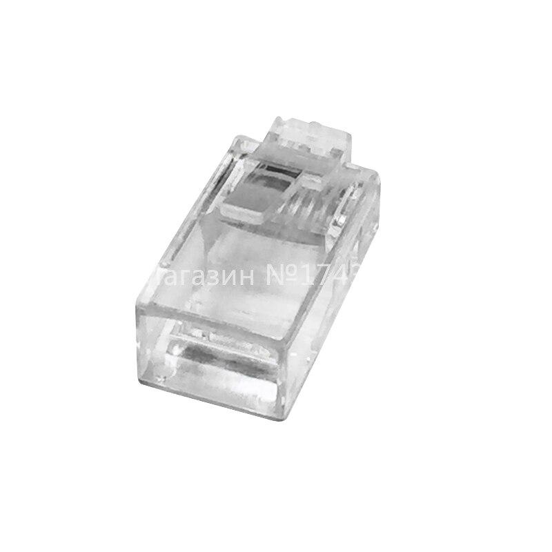 High Quality 1000PCS Crystal Head RJ45 Pack Plug Cat5 Rj-45 CAT5 Modular Plug Lan Network Connector Networking Adapter Ic ...