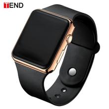 Мужские спортивные часы, Квадратный светодиодный, для студентов, взрослых, пара, электронные цифровые часы, электронные часы Hodinky, цифровые часы, relogio A001