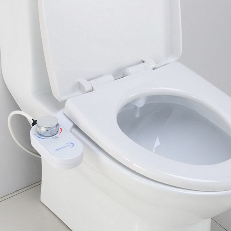 Non Electric Bidet Mechanical Self Cleaning Retractable Nozzle With Tube Easy Install Washing Water Spray Toilet Seat Attachment
