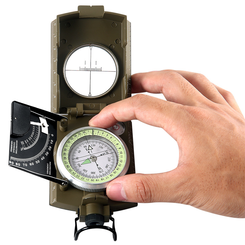 multifuncional militar bolso metal avistamento bussola clinometro 01