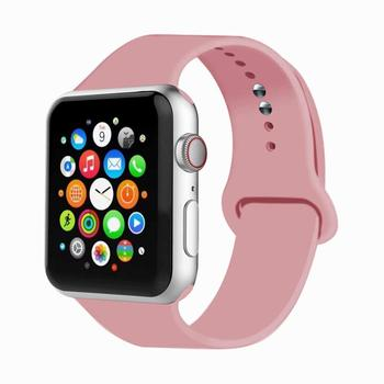 Silicone Strap For Apple Watch band 44 mm/40mm iWatch Band 38mm 42mm 44mm Sport watchband bracelet apple watch series 5 4 3 2 1 soft silicone sport band for apple watch series 2 replacement strap for apple iwatch two colors sport band joyozyluxury bands