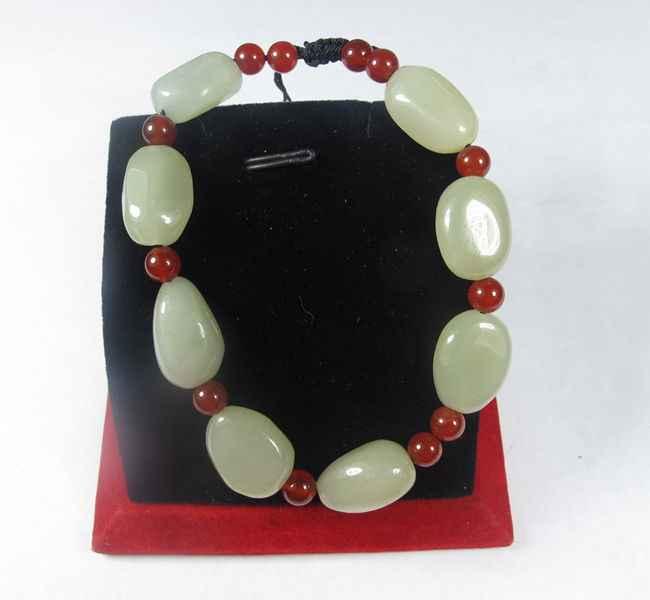 Authentieke natuurlijke een goederen Xinjiang en Tianyu zaad ruwe steen armband mannen en vrouwen jade jade jade hand string open licht om ope