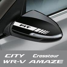 2 pçs espelho retrovisor do carro adesivo para honda amaze brio BR-V cidade crosstour apto passaporte ridgeline stepwgn córrego WR-V acessórios