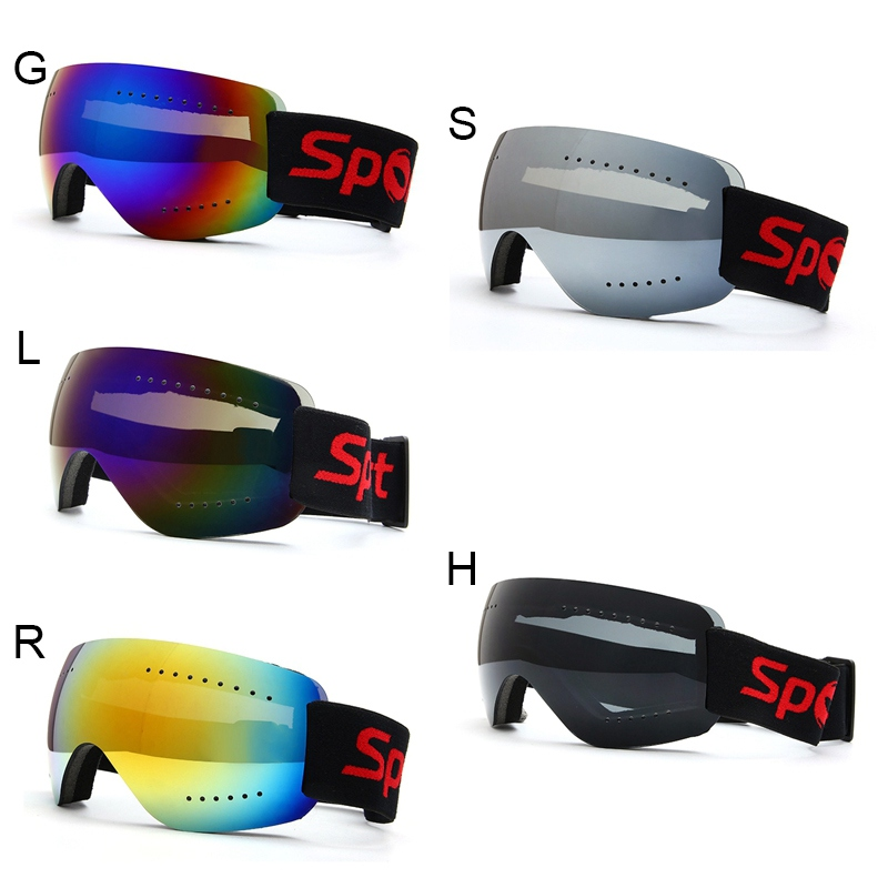 Adjustable Protection Glasses Frameless Skiing Snowboard Anti Fog UV Elastic Band Motorcycle Riding Glasses Road Racing Eyewear