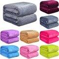 Мягкое теплое одеяло из кораллового флиса  зимнее покрывало  диван  плед  300Gsm  4 размера  легкая тонкая Механическая стирка  фланелевое одеял...