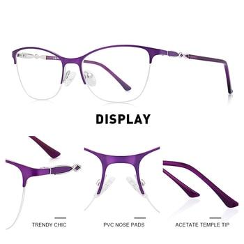 MERRYS DESIGN Women Cat Eye Glasses Half Frame Ladies Fashion Trending Eyewear Myopia Prescription Optical Eyeglasses S2007
