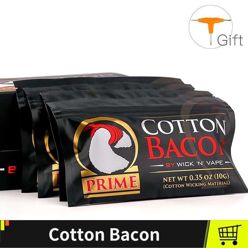 Gold Version Cotton Bacon Vape Cotton For RTA RDA RTA Atomizer Electronic Cigarettes Vape Accessories