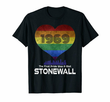 Negro el primer orgullo 50 aniversario Stonewall 1969 Nyc Lgbtq camiseta masculina camiseta femenina