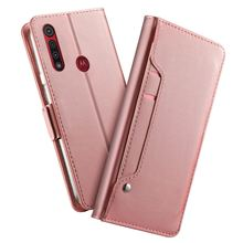 For Motorola Moto G8 Play Moto G8 Plus Case Leather Wallet Flip Stand Cover with Mirror Card Slots For Motorola Moto E6 Play