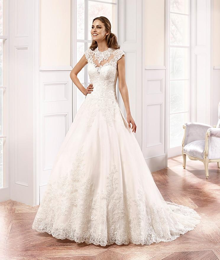 High Neck A-Line Vintage Lace Vestido De Noiva 2018 Cap Sleeve Bridal Gown Sleeveless Chapel Train Mother Of The Bride Dresses