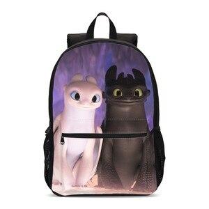 Plecaki dla chłopców dziewczęta jak wytresować smoka śliczna nocna furia drukowanie Bookbag plecaki na laptopa tornister Mochila Escolar